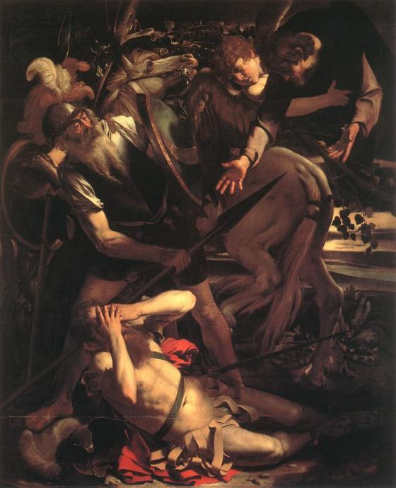 Caravaggio: Conversion of St. Paul on the Road to Damascus. This experience was very dramatic for him, with immediate results like few people go through. It may be useful for us to reflect on our need for ongoing conversion.