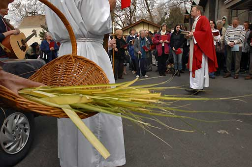 Palm Sunday procession at Christ Church, Schenectady, New York, 2007.