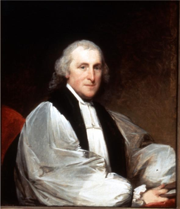 Gilbert Stuart, 1795: William White, patriot, diplomat, Bishop of Pennsylvania, first Presiding Bishop and builder of The Episcopal Church after the collapse of the Church of England in the American colonies.