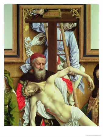 Rogier Van Der Weyden: Joseph of Arimathea Supporting the Dead Christ