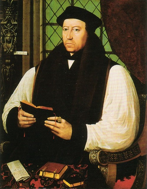 Gerlach Flicke, 1545-46: Thomas Cranmer. Everything we do on this site is an outgrowth of the work of Archbishop Cranmer, who compiled, edited, translated and wrote some parts of the first Book of Common Prayer, 1549. He simplified the monastic Offices into Morning and Evening Prayer – and best of all, he put them into English, not Latin.