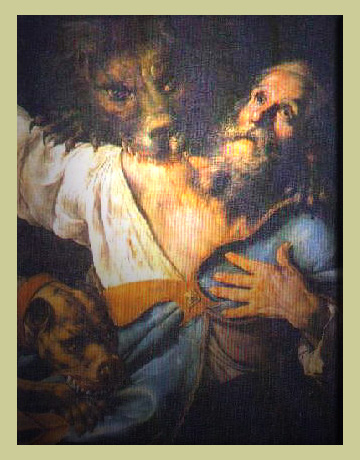 "Ignatius was martyred by being thrown to the lions in Rome. But he's more remembered today for his incarnationalsim, his insistence that Jesus Christ was a human being like we are. He opposed Gnosticism, which denied the humanity of Christ, and maintained that Church unity springs from the Baptismal covenant. He exhorted, ""Try to gather more frequently to celebrate God's Eucharist and to praise him… Heed the bishop and the presbytery attentively and break one loaf, which is the medicine of immortality."" (artist unknown)"