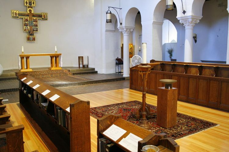 Chapel at Holy Cross Monastery, West Park, New York, 2007. Father Huntington founded the order in New York City in 1884 to minister to immigrants on the Lower East Side; they moved upstate in 1902. (Josh Thomas/The Daily Office)