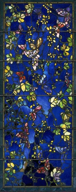 John La Farge, 1889: Butterflies and Foliage - what lovely, original work. (Boston Museum of Fine Arts)