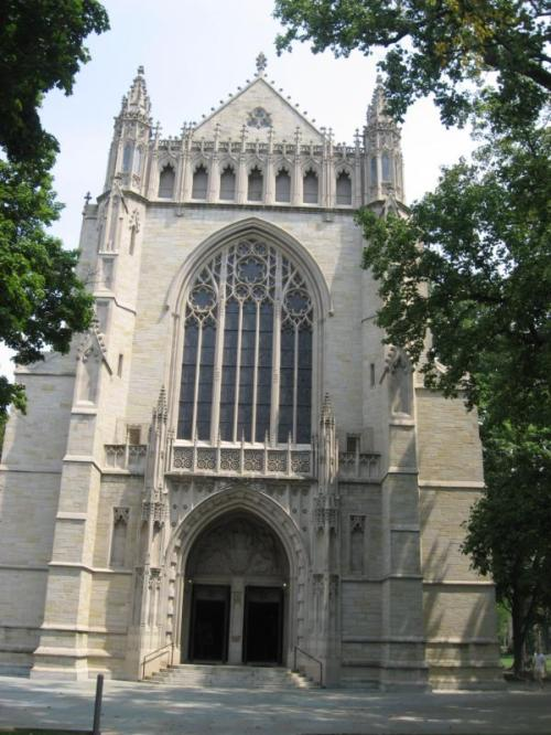 Ralph Adams Cram: Chapel at Princeton University, New Jersey, USA. He was a great proponent of the Gothic Revival style, which he adapted to university campuses in a style dubbed Collegiate Gothic. In 1887 he underwent a dramatic conversion experience during a Christmas Eve mass in Rome, and for the rest of his life identified as Anglo-Catholic. (source unknown)