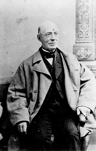 William Lloyd Garrison, publisher of The Liberator, one of the foremost campaigners to abolish U.S. slavery.