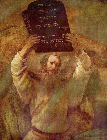 Rembrandt: Moses with the Ten Commandments