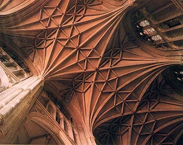 Rib vaulting, Canterbury Cathedral.