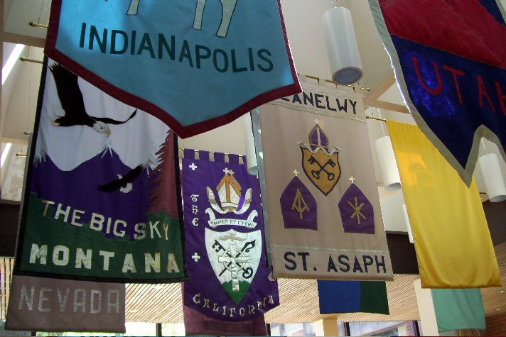 Diocesan banners representing seminarians at the Church Divinity School of the Pacific, Berkeley, California, 2007. (Josh Thomas/The Daily Office)