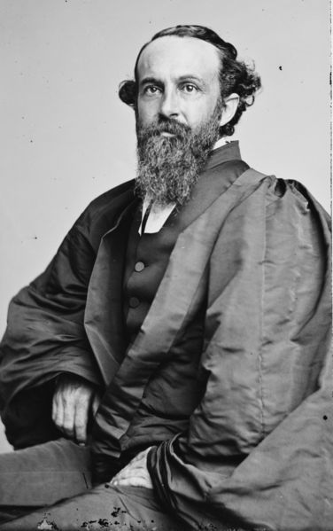 "Charles Quintard, an opponent of racism and classism, was the first new Episcopal Bishop after the Civil War, and his election in 1867 spurred reconciliation between the Northern and Southern factions. There was never a formal split between the two, such as happened in Protestant denominations; though a Confederate Episcopal Church was announced and did publish a Prayer Book, it was only a reprint of the Standard Book with a new cover page. The Southern Church never met in convention, while the Northern Church continued to meet; each time the clerk would call the roll, mark the Southern dioceses absent, and everyone pretended the Southerners meant to come but just couldn't make it. The war finally ended and Tennessee elected Quintard, a physician and Union man who had served as surgeon and chaplain of the Confederate 1st Tennessee Regiment, just a month before the General Convention of 1867, throwing his ""consents"" to that body. They voted him in, the clerk announced that all dioceses were present and accounted for, and The Episcopal Church was reunited. (Brady-Handy Studio)"