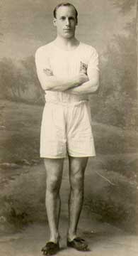 """Eric Liddell, the Scottish sprinter and Olympic champion portrayed in """"Chariots of Fire,"""" was born of missionary parents in China and returned to mission there with his brother, a physician. (source unknown)"""