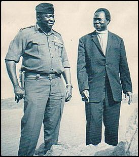 Archbishop Luwum with the infamous Ugandan dictator Idi Amin, who had him gunned down for protesting government-sanctioned rape and murder. The self-proclaimed King of Scotland was responsible for as many as 500,000 deaths.