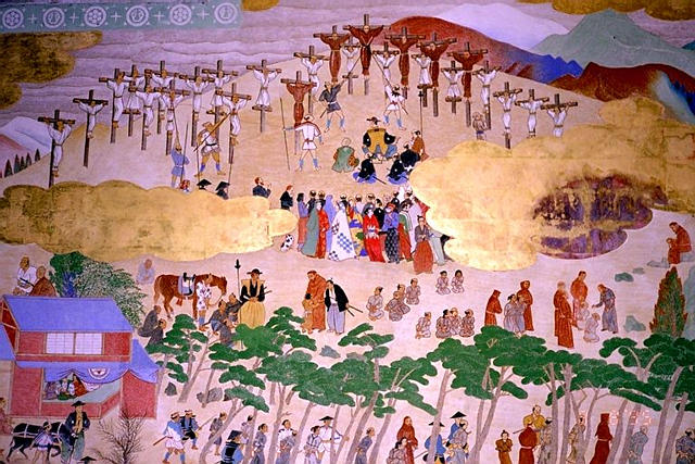 The reasons for persecution of Christians in Japan are complex, but the government feared that missionaries and converts were stalking horses for European conquerors to subjugate Japan. The first victims, six Franciscan friars and 20 converts, were crucified in Nagasaki in 1597; by 1630 Christians were driven underground, yet they persisted in the faith for centuries.