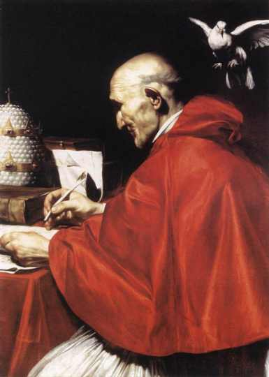 Gregory the Great did not create the Gregorian chanting style, but it did arise from his systematic liturgical reforms – just one of the achievements that earned him the title of Great. (artist unknown)