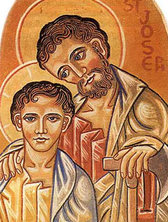 Guardian, Protector, Dad: St. Joseph. (artist unknown)