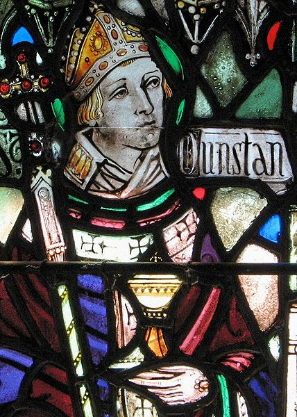 Dunstan, a monk as well as Archbishop, led a revival of English monasticism after Viking invaders laid waste to much of the country and the Church. He is the patron saint of metalworkers and bell-casters; think of him the next time a church bell sings. (Holy Cross Monastery)