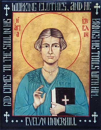 Evelyn Underhill was an English writer who incorporated modern psychological insights into ancient Christian spirituality. (Suzanne Schleck) Evelyn Underhill was an English writer who believed that everyday mysticism can be part of the experience of anyone who cares to nurture it, not just a saintly few. She taught that modern psychological discoveries enhance our awareness of God, rather than destroying it – a revolutionary idea at the time. In a sense, all God-seekers today are disciples of Evelyn Underhill. (Suzanne Schleck)