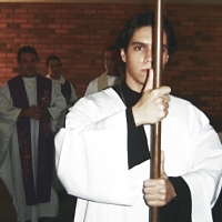 Luiz Coelho Jr., about 2006. Even when he was just an acolyte, I knew that boy was going to be a priest.
