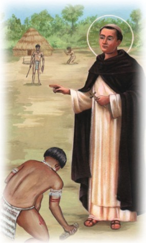 St. Toribio was a lawyer and a layman when he was appointed archbishop of Lima. He left his home in Spain, sailed to Peru and walked the countryside, baptizing and confirming nearly a million souls.