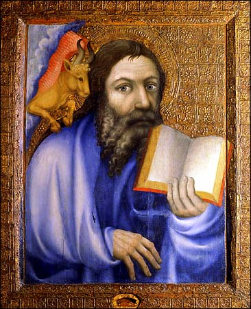 Master Theodoric, 1360: St. Luke. The Office lectionary signals a major Feast of our Lord like this one in two ways: psalms are ordered in unusual combinations, and the day gets four Bible lessons instead of three.