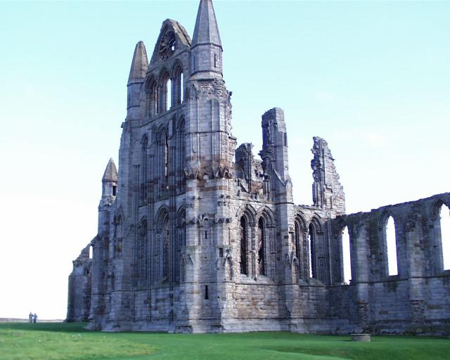 "The ruins of a Benedictine men's abbey, which succeeded St. Hilda's ""double monastery"" for men and women at Whirby. People still make pilgrimage there, seeking the spirit and wisdom imparted by the beloved abbess, who is closely identified with Celtic Christianity. (source unknown)"