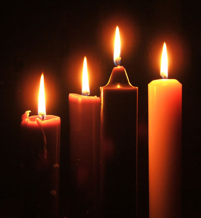German Lutherans popularized the Advent version, with four candles for four weeks. It has gained widespread popularity, but is still unknown in some countries.