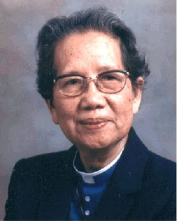 """Mother Florence suffered a lot in her life, including being confined in a """"re-education"""" camp in China and widespread controversy about her vocation, but Canadians rejoiced to receive her as a priest in 1981. She is a beloved symbol today of women's ordination. (source unknown)"""