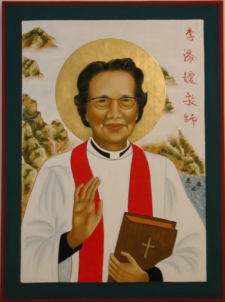 "The ""much beloved daughter"" Li Tim-Oi took on the Christian name Florence at baptism, in honor of Florence Nightingale. She was ordained a deacon in 1941 and a priest in 1944, after Hong Kong fell to the Japanese and male priests could not travel to her parish to celebrate the Eucharist. She chose to cease her priestly functions when her ordination became controversial after the end of World War II. She moved to Hepu, China to continue her ministry, was forced into a ""re-education"" camp during the Cultural Revolution, and finally was allowed to visit family in Canada – where, to her great joy, she was licensed as a priest in the Diocese of Montréal and later Ontario. She died in 1991, the first of her kind in Anglican history. Today there are thousands of women priests and a few scattered bishops; every flood begins with a trickle, and Florence was the first drop. (The Rev. Dr. Ellen Francis Poisson, OSH)"