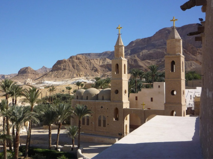 St. Antony's Monastery, Egypt. He inherited wealth when he was young, but following his Savior's command, sold all he had and gave it to the poor. This Coptic Orthodox monastery, located deep in the mountains 200 miles south of Cairo, is one of the oldest in the world. Home today to over 100 monks, it receives a million visitors a year and has produced a dozen Coptic Popes.