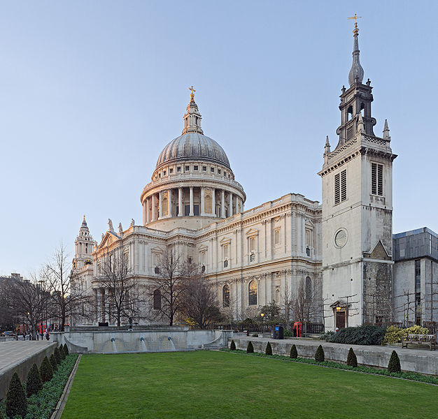St. Paul's Cathedral, London. Christopher Wren, the architect, reworked that dome repeatedly; it's actually three domes in one, with a hidden conical structure supporting the interior and exterior.