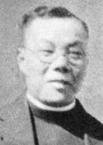 Father Wu came from Hawai'i to join the mission in San Francisco started by his mentor, Deaconess Emma Drant. After the 1906 earthquake many Chinese fled to Oakland, and he ministered there as well, while studying for the priesthood at Church Divinity School of the Pacific. He was ordained in 1912. A deaconess in Hawai'i got to young Gee Ching Wu when she asked him to teach her Chinese in exchange for English lessons. Though hesitant at first, he became a Christian, took the name of Daniel and eventually followed her to California, where she established missions among Chinese immigrants in San Francisco and Oakland. He managed those two sites while also studying at the seminary in nearby Berkeley, was ordained in 1912 and became Vicar of both congregations. He used to prowl the docks looking for Chinese just off the boat, whom he helped integrate into the community. So they could maintain their cultural heritage while adapting to their new land, he taught Chinese to the children and English to the parents; his ministry of 36 years established the Episcopal Church's ministry to Chinese Americans. (source unknown)
