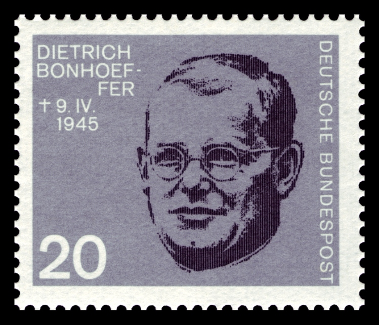 Bonhoeffer taught briefly in the United States and had several chances to escape Nazi Germany entirely, but his faith and sense of responsibility drew him into the Resistance. He was hanged for plotting against Hitler a few months before Germany lost the war and Hitler killed himself. West Germany issued this stamp in 1964.