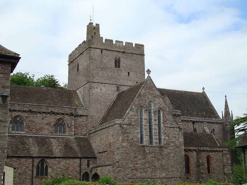 Brecon Cathedral, Wales. The building dates from Norman times in the 11th century; it was a priory before the Dissolution of the Monasteries. (John Armagh)