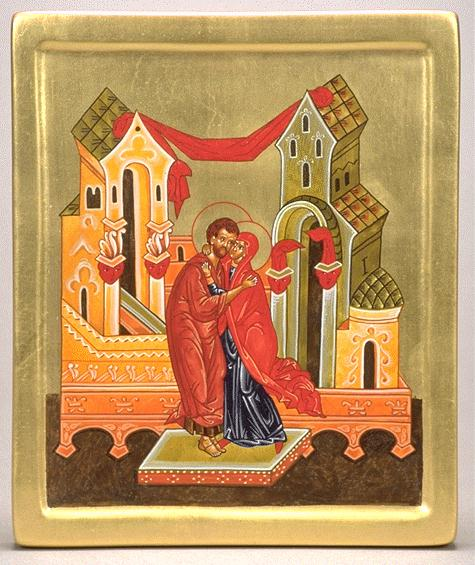 Heiko C. Schlieper: Ss. Joachim and Anne. The Gospels tell us little about Mary's background, but by the second century curiosity about her was so great that a devout Christian sought to supply her with a backstory based on Old Testament narratives and traditions about the nativity of John the Baptist. In 550 the Emperor Justinian built a church for St. Anne in Constantinople, but she was unknown in the Western Church until the 1100′s. Still, we know Mary had parents – and they must have followed the LORD devoutly in raising her. So here's to unsung moms and dads.