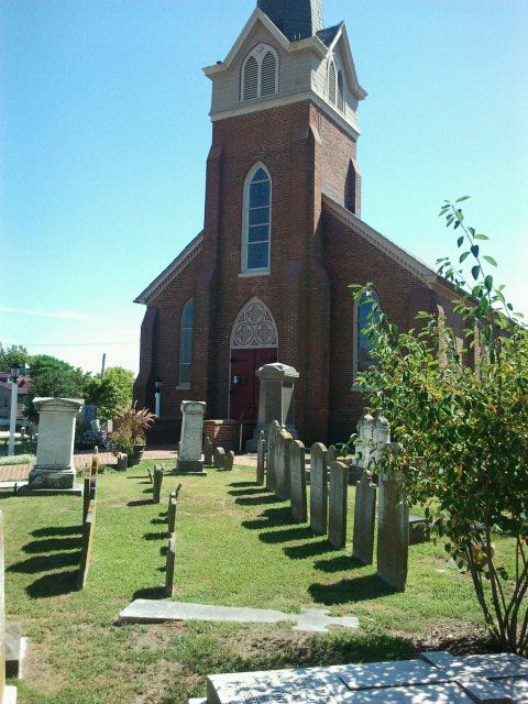 St. Peter's, Lewes, Delaware, founded 1708. (Maria L. Evans)