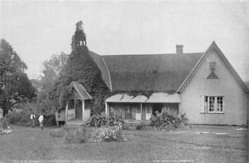 Bishop Patteson's house and chapel on Norfolk Island; he was killed on Napaku in the Santa Cruz group. After his death, Bishop George Augustus Selwyn, first Bishop of New Zealand, who had called Patteson from England to join him, helped reconcile the Melanesian natives to the memory of one who came to help, not to hurt.