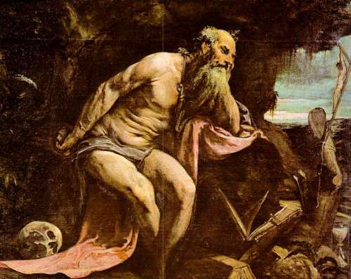 Jacopo Bassano, 1556: St. Jerome. He was the foremost Biblical scholar of the ancient Church; the Latin Vulgate is his translation.
