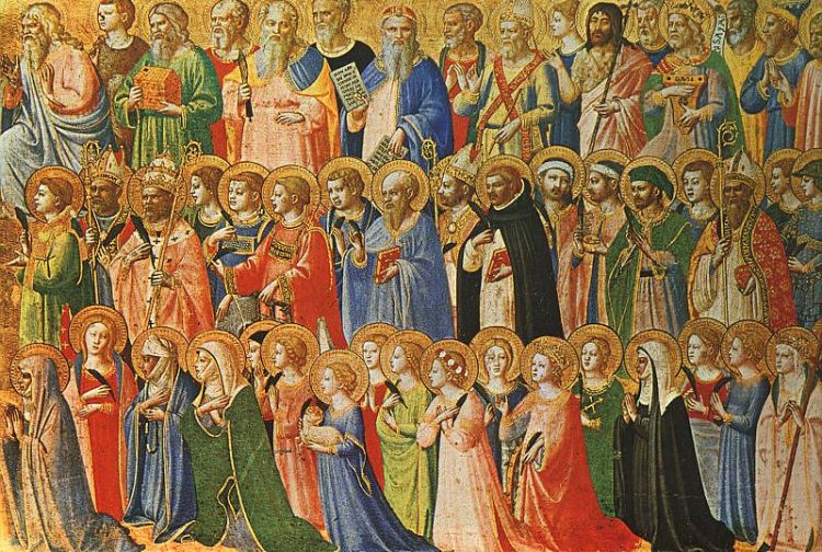 Fra Angelico, c.1430: Christ Glorified in the Court of Heaven, his great work for All Saints' Day.