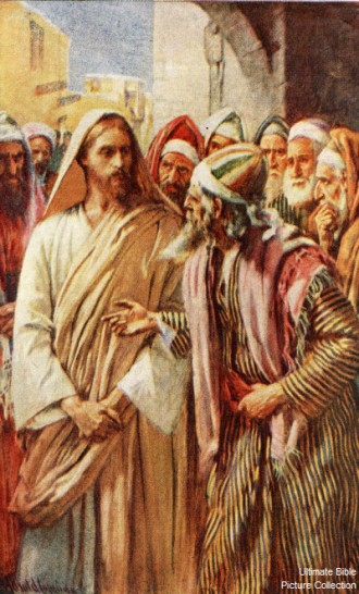 Jesus Confronted by the Sadducees. (Ultimate Bible Pictures)
