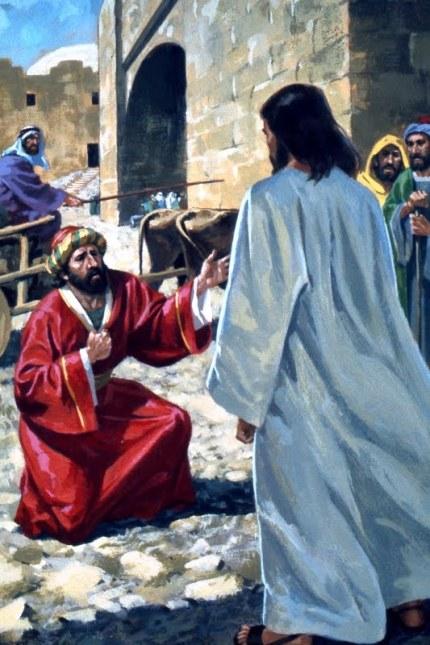 Jesus heals an official's son. (Artist unknown)