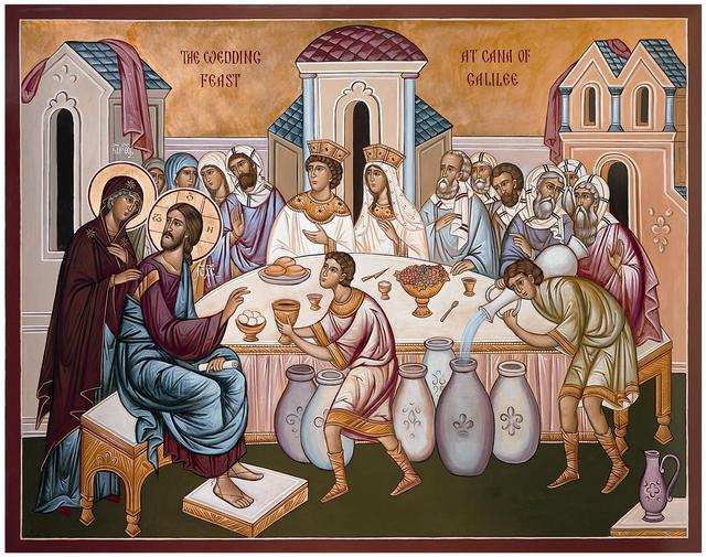 The Wedding at Cana (iconographer unknown)