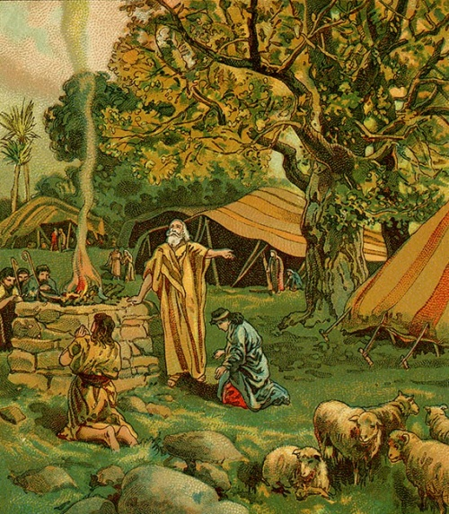 Abraham Worships at the Oak of Mamre (artist unknown)