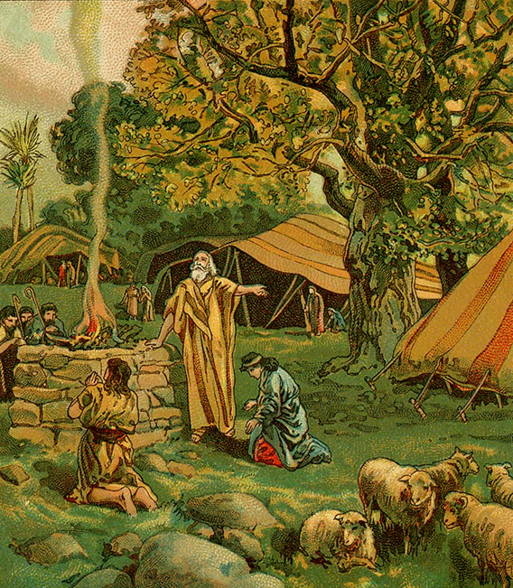 Abram Worships at the Oak of Mamre (artist unknown)