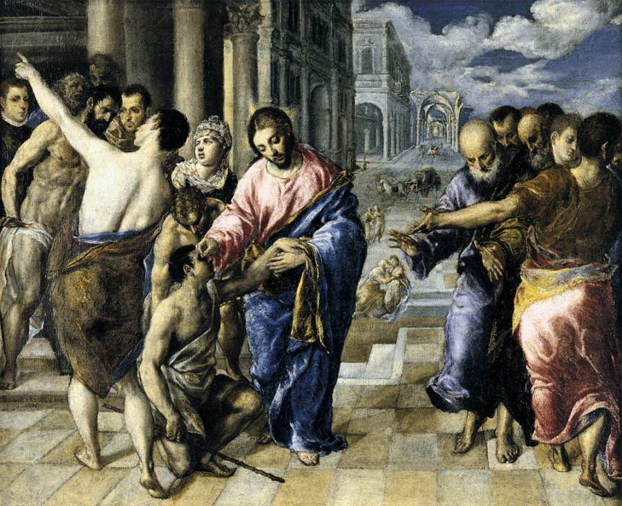 El Greco: Jesus Heals a Blind Man.
