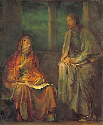 John LaFarge, 1880: Visit of Nicodemus to Christ.