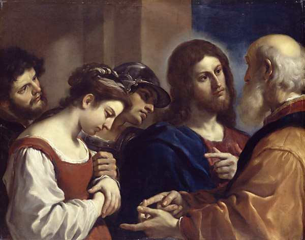 Guercino, 1621: Christ with the Woman Taken in Adultery (Dulwich Picture Gallery)