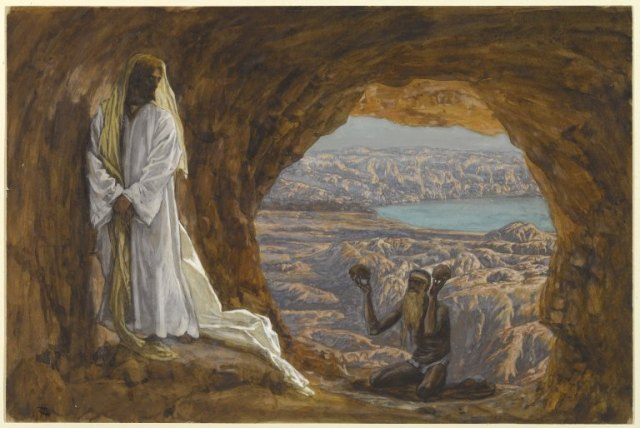 James Tissot: Jesus Tempted in the Wilderness. (Brooklyn Museum)