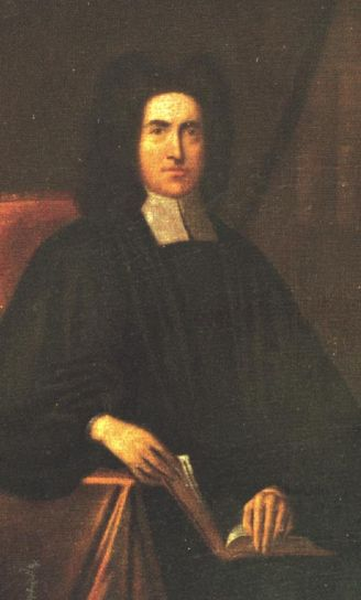 Thomas Bray, an English country parson, was appointed by the Bishop of London to oversee Anglican parishes in the Maryland colony. He visited there once and took a lasting interest in the American Church, but his greatest influence was his founding two major missionary societies back home, for Promoting Christian Knowledge (1698) and for Propagation of the Gospel in Foreign Parts (1701), both still in existence and successful all over the world. (artist unknown)