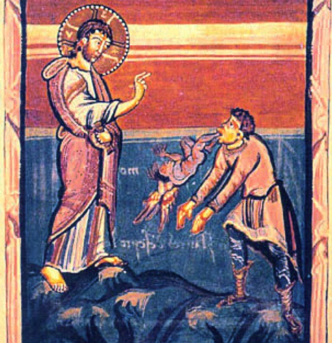 Jesus heals a man with a demon; the details of this story are what make it so fascinating. (Artist unknown)