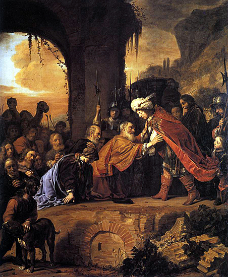 Salomon de Bray: Joseph Receives His Father and Brothers in Egypt.